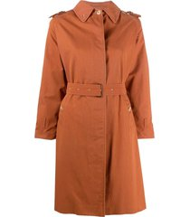 burberry pre-owned 1990s single-breasted belted trench coat - brown