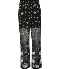 self-portrait deco sequin trousers