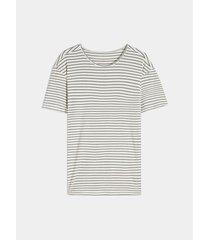 camiseta en viscosa rayas