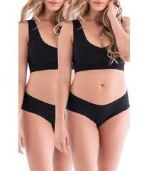 belly bandit(r) anti panti(r) leak-resistant 2-pack panties, size x-large in black at nordstrom