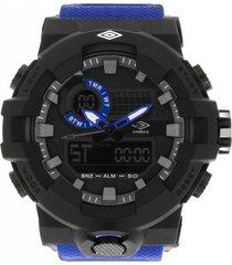 reloj digital análogo azul umbro