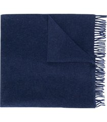 a.p.c. knit scarf - blue