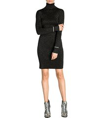 lurex turtleneck dress