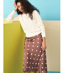 loft polka dot midi skirt