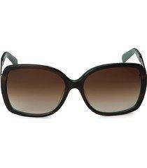 kate spade new york women's darilynn 58mm square sunglasses - tortoise