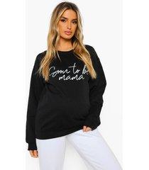 zwangerschap 'soon to be mama' sweater, black