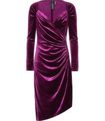 asymmetric velvet dress