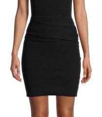 iro women's dunbar merino wool & cashmere-blend mini skirt - black - size s