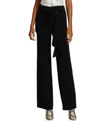 elizabeth and james women's connor cascade tied pants - black - size 10