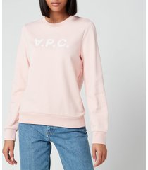 a.p.c. women's viva sweatshirt - rose - l