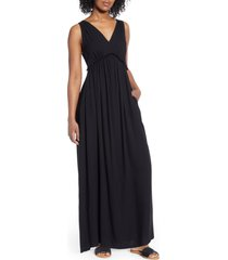 women's gibsonlook x hi sugarplum! amalfi border maxi dress