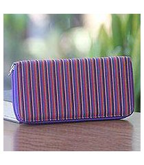 cotton wallet, 'purple vertical rainbow' (indonesia)