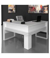 mesa em l para escritório tecno mobili me4145