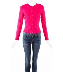 alexander mcqueen pink knit cardigan sweater pink sz: m