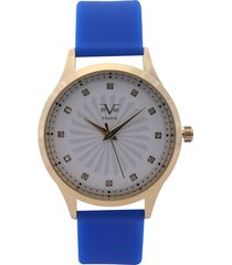 reloj dorado-azul-blanco versace 19.69
