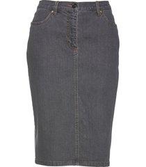gonna di jeans con bottoni (grigio) - bpc selection