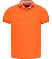 camiseta tipo polo naranja hamer bolsillo bordado