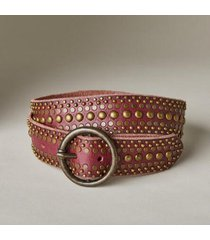 sundance catalog women's studded circle belt in burgundy small