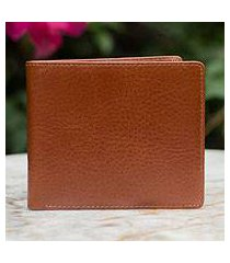 men's leather wallet, 'explorer in brown' (thailand)