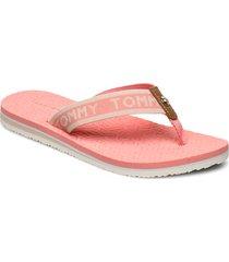 th embossed flat beach sandal shoes summer shoes flip flops rosa tommy hilfiger