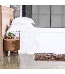 jogo de cama 300 fios casal bordado inglês toque acetinado sublime - tessi