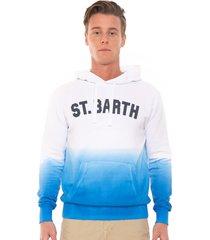 mc2 saint barth white and bluette shades hooded sweatshirt manhattan