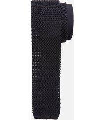 canali men's silk knitted tie - black