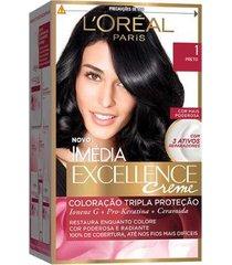 coloração imédia excellence l'oréal paris 1 preto