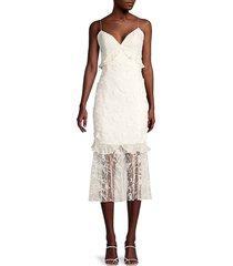 sachin & babi women's milan midi embroidered lace dress - ivory - size 12