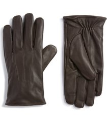 men's topman leather touchscreen gloves