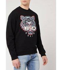 kenzo men's classic tiger sweatshirt - black - xl