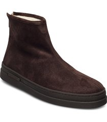 cloyd mid zip boot shoes boots winter boots brun gant