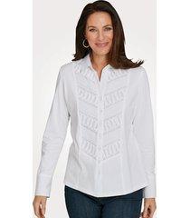 jersey blouse justwhite wit