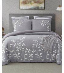 laurel park autumn chain embroidered cotton queen comforter set bedding