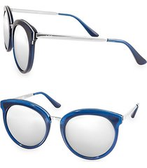 poppy 54mm round sunglasses
