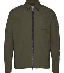nylon overshirt - grs/vegan dun jack groen knowledge cotton apparel