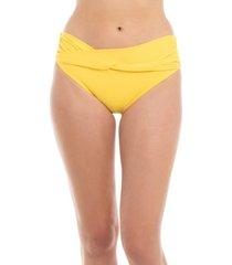 bikini calzón banda torcida amarillo samia