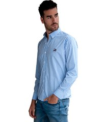camisa cuadros azul claro