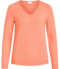 l/s v-neck knit top-fav