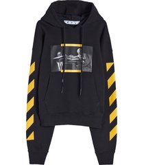 off-white carav painting over hoodie