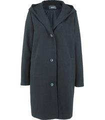 cappotto corto in simil lana con cappuccio (nero) - bpc bonprix collection