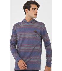 camiseta nicoboco capuz breloom azul/cinza - azul - masculino - dafiti