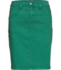 amalie skirt - knee lgd. kort kjol grön cream