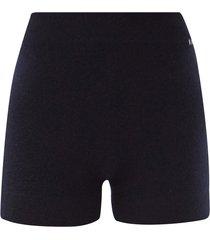 very elasticated-waist cashmere shorts