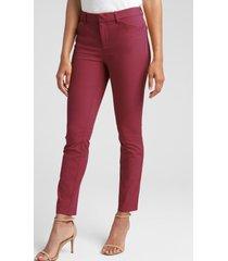 pantalon skinny ankle mujer rojo gap