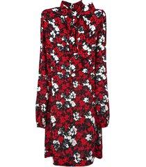 n.21 red floral print dress