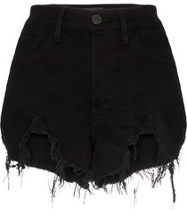 3x1 blake distressed denim shorts - black
