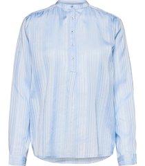 lux shirt blouse lange mouwen blauw lollys laundry