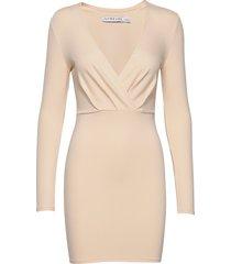 slim fit mini dress kort klänning beige ivyrevel