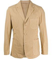 aspesi single-breasted cotton blazer - neutrals